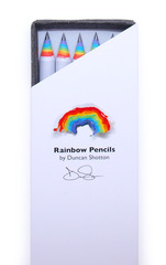 5 PK Rainbow Pencil - White